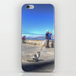 Fishermen And Cats Istanbul iPhone Skin