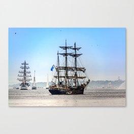 Majestic sailing view, Boston MA Canvas Print
