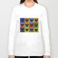 mickey Long Sleeve T-shirts featuring Mickey by Sierra Christy Art