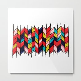Rainbow Screen Print Metal Print