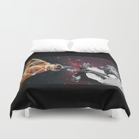 louis armstrong Duvet Covers featuring Louis Light (Digital Collage) by Jeff Taylor