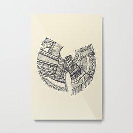 Wu-Tang Zentangle Metal Print