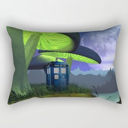 Tardis in the planet of alien Rectangular Pillow