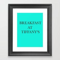 Breakfast at.. Framed Art Print
