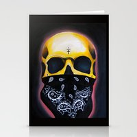 gangster Stationery Cards featuring Gangster Skull  by GIlbert G909