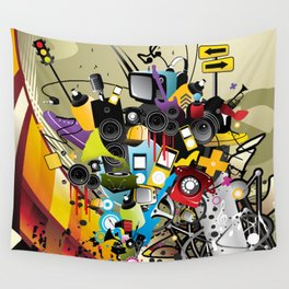 Sound System Space Wall Tapestry