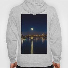 Moon light city of Boston Hoody