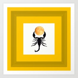 A Scorpion With The Moon In The Frame #decor #homedecor #buyart #pivivikstrm Art Print