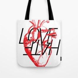 LOVE  –VS– HATE Tote Bag