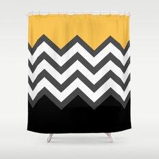 Color Blocked Chevron 6 Shower Curtain
