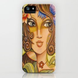 Mona Lisa's Butterflys iPhone Case
