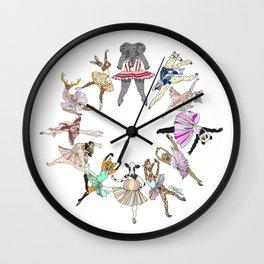 Animal Ballerinas Wall Clock