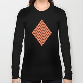Geometric shape t-shirts & prints: Coral Diamond Rhombus (Rhom x Rhom) Multiple colours available... Long Sleeve T-shirt