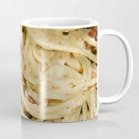 pasta Mugs featuring Carbonara Pasta by Anand Brai