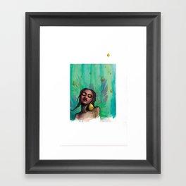 peguei uma chuva Framed Art Print