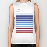 ponyo Biker Tanks featuring The colors of - Ponyo by hyos