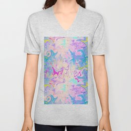Abstract Pattern Blue and Purple Unisex V-Neck
