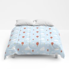 Air Balloons in the Sky Comforters