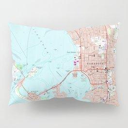 Vintage Map of Sarasota Florida (1973) Pillow Sham