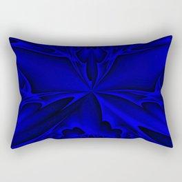 Midnight Blue Abstract 5 Rectangular Pillow