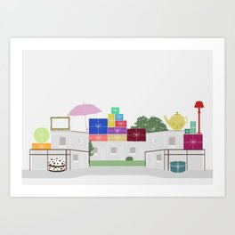 Garage Sales Art Print