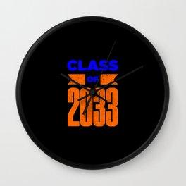 Class Of 2033 Graduation Senior Wall Clock