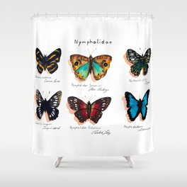 Nymphalidae butterflies Shower Curtain