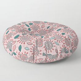 Cheerful pink picture. Floor Pillow