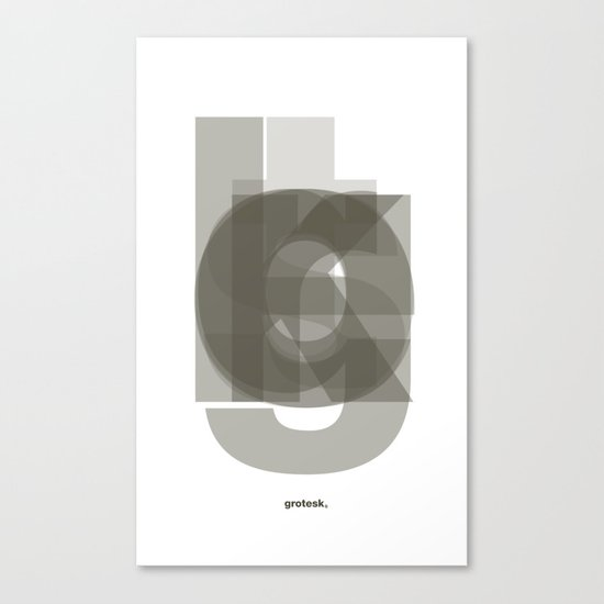 Die Neue Haas Grotesk (A-03) Canvas Print