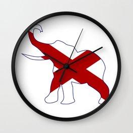 Alabama Republican Elephant Flag Wall Clock