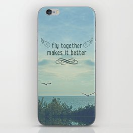 Fly togheter iPhone Skin