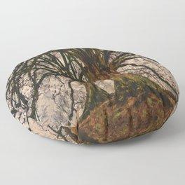 old tree Floor Pillow
