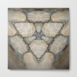 Cotswold Stone Triad Metal Print