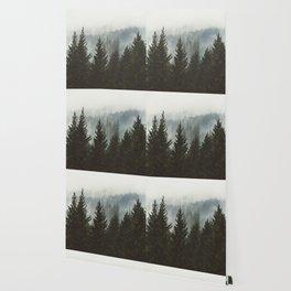 Wanderlust Forest II - Mountain Adventure in Foggy Woods Wallpaper