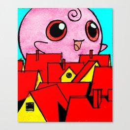 Pink Horror Canvas Print