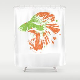Betta Splendens Shirt Cute Bettas Siamese Fighting Fish Gift Shower Curtain