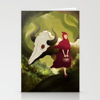red hood Stationery Cards featuring red hood by R,oh
