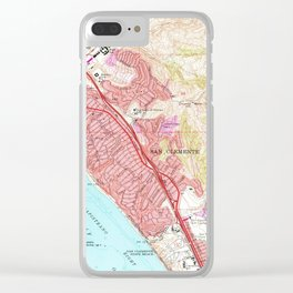 Vintage Map of San Clemente California (1968) Clear iPhone Case