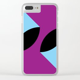 Two 3d seeds being thrown strongly, in a purple space. Clear iPhone Case