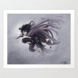 Vin in the Mists Art Print