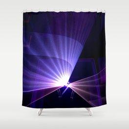 Violet laser Shower Curtain