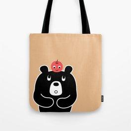 Apple Bear Tote Bag
