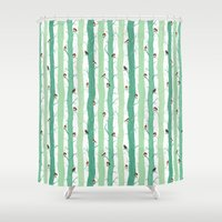 robin Shower Curtains featuring Robin by Karina R
