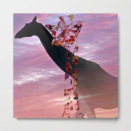 Goodnight Giraffes Metal Print