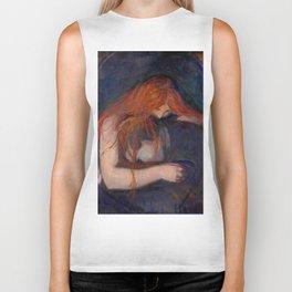 "Edvard Munch ""Vampire"", 1895 Biker Tank"