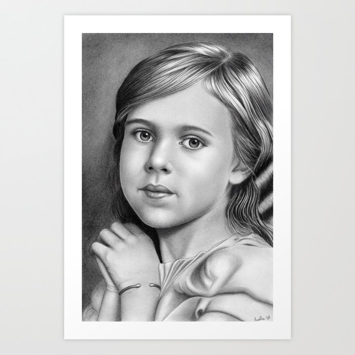 Child Portrait 01 Art Print