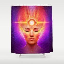 Mind Molecular Congruence Shower Curtain