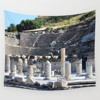 theater Wall Tapestries featuring Theater  by Allisa Thome