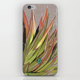 Yucca filifera with beetle iPhone Skin