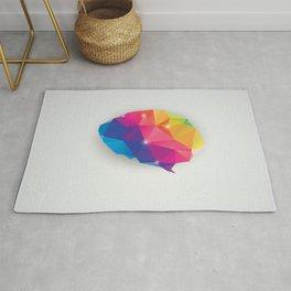 Geometric brain Rug